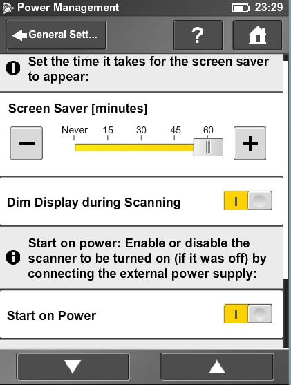 tx5 scanner power management