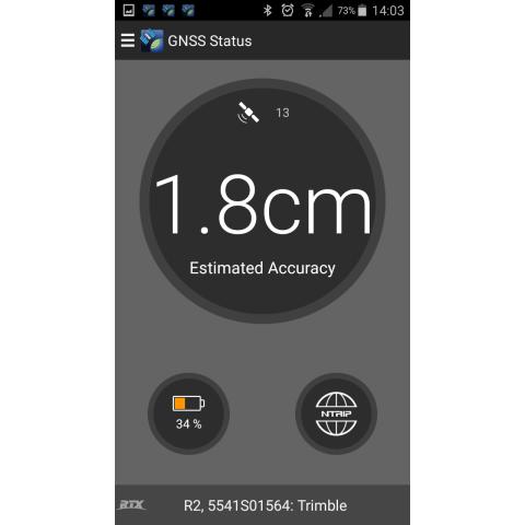 Trimble R2 - tikslumas naudojant NTRIP korekcijų šaltinį
