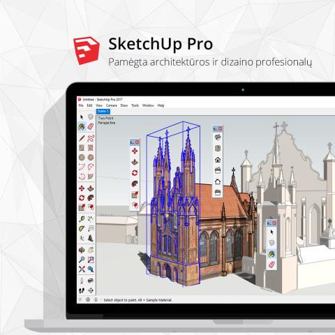 SketchUp Pro populiari architektu ir dizaineriu tarpe