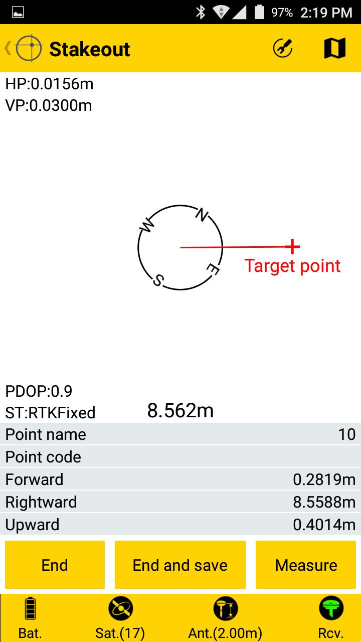 Spectra Survey Mobile taškų nužymėjimas