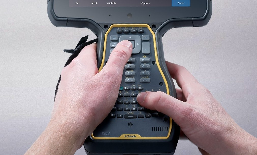 Trimble TSC7 ergonominis dizainas
