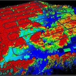 LIDAR miškingoje vietovėje