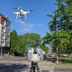 Dronas ir 3D erdvinis skeneris