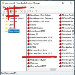 Trimble Business Center - Coordinate System Manager - LKS94 - LAS07 - Geoidas