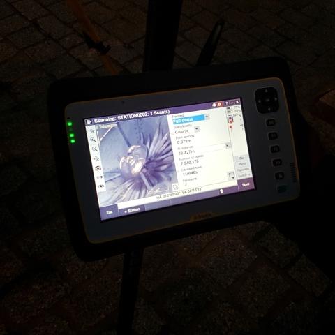 Trimble SX10 - GeoNovus - Krokuvos miesto aikštės laikrodis