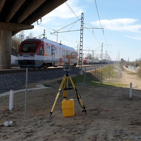 Trimble SX10 - TBC - geležinkelio darbai - Vitras-S