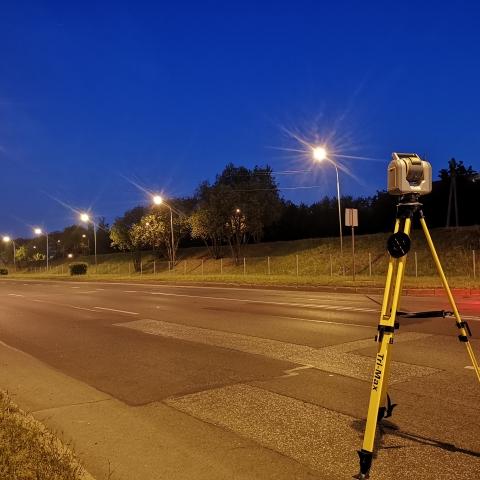 Geležinio vilko - Vilnius - Trimble SX10 su T10 ir Trimble Access (vakaras)