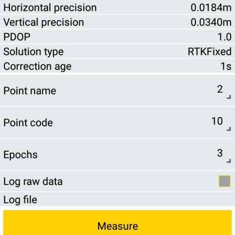 Spectra Precision Survey Mobile - Taškų matavimas