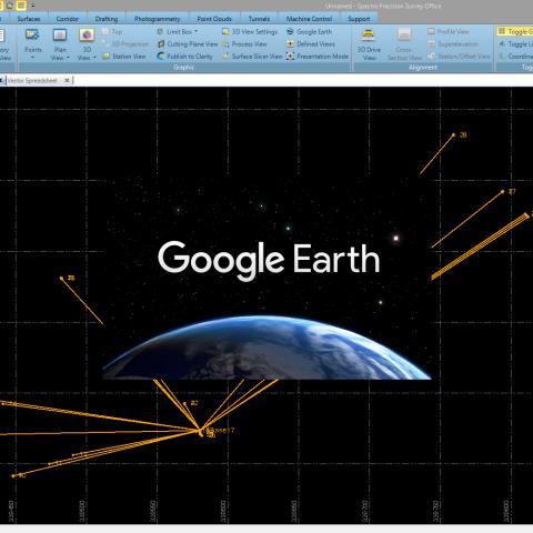 Specra Survey Office - Eksportas peržiūrai į Google Earth - Komlektuojama su SP60
