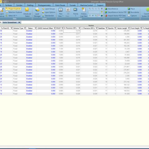 Specra Survey Office - Taškų peržiūra ir filtravimas - Komlektuojama su SP60