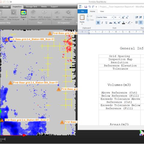 grindų deformacijų ir plokštumo analizė