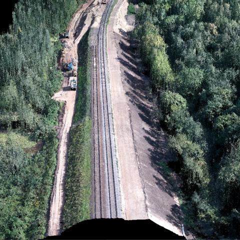 UX5 kartografavimo rezultatų fragmentas - Geležinkelis