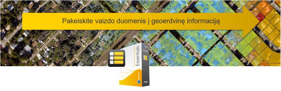 eCognition Essentials - pakeiskite vaizdo duomenis į geoerdvinę informaciją