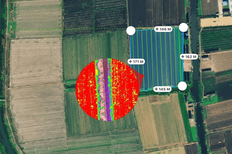 Duomenų pavyzdys iš P4 Multispectral